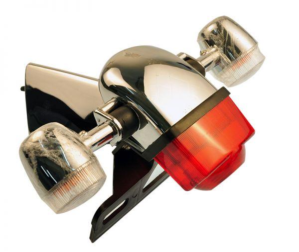 Rückleuchte mit Blinkleuchten und Halter komplett für RETRO125 Roller Znen Fosti